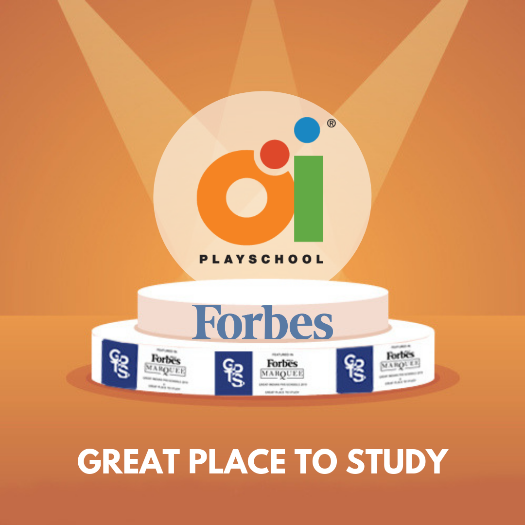 "We're proud to announce that we have received yet another badge of honour! FirstCryOi Playschool is now a Great Place to Study!  ""Forbes – Great Place to Study"" is a stamp of our excellence and outstanding prestige."