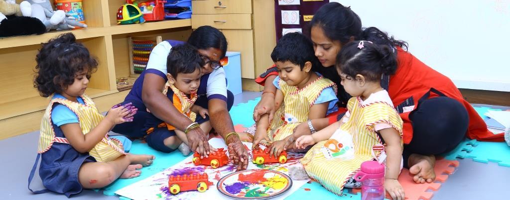 Preschool Teacher, Significance of preschool teacher, Children with teacher, Children playing