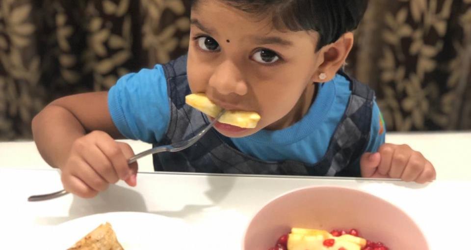 Kid Eating Fruits, Child Eating Fruits, Girl Eating Fruits, Her Eating Fruits,